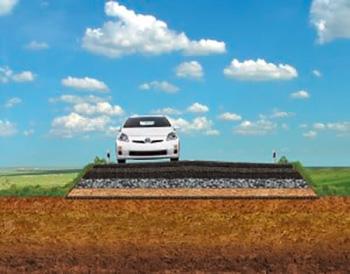 Армирование насыпей автомобильных дорог и дамб
